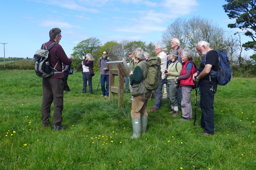 A Wildlife Group guided walk at Churchtown Farm Community Nature Reserve in April, led by East Cornwall Nature Reserves Manager Peter Kent