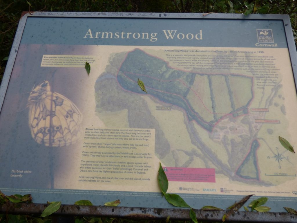 Reserve sign, Armstrong's Wood