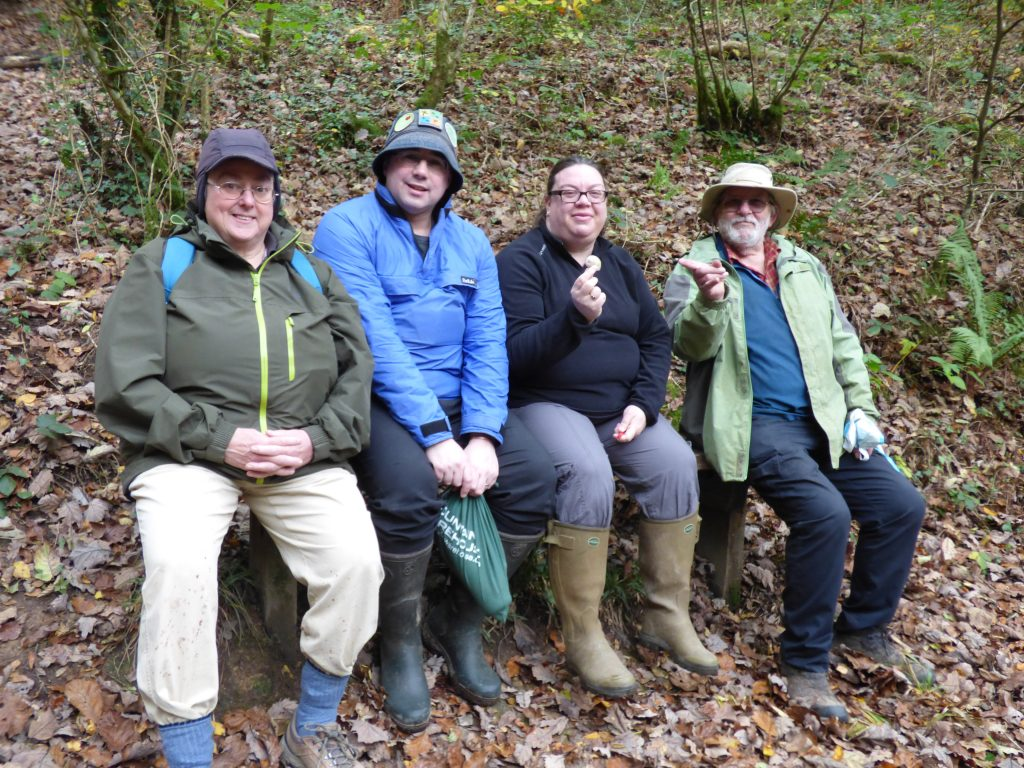 The geocachers with a find