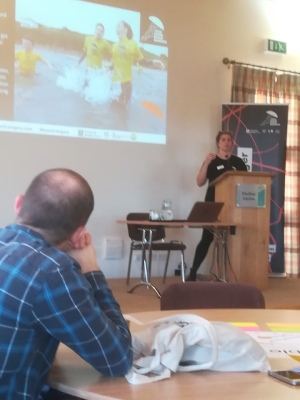 Abby Crosby give a talk